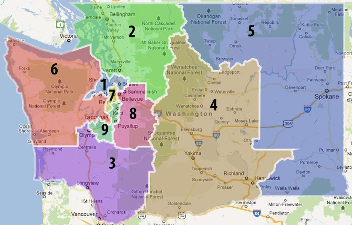 This is how the state's political map looks now. From Google Maps