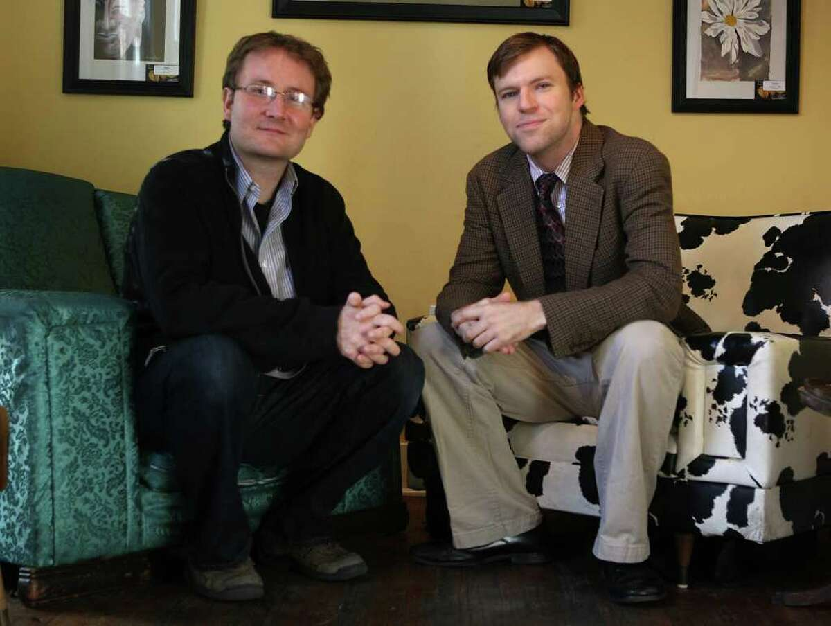 Kyle Gillette (left) and Michael Burger are the new artistic and executive directors, respectively, of the Overtime Theater.
