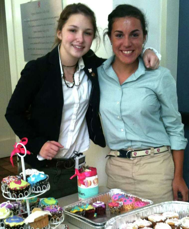 SPECTRUM/Kori Rimany, left, a student at The Gunnery in Washington, left, and friend Alexis Dominicus. December 2011  Courtesy of The Gunnery Photo: Contributed Photo