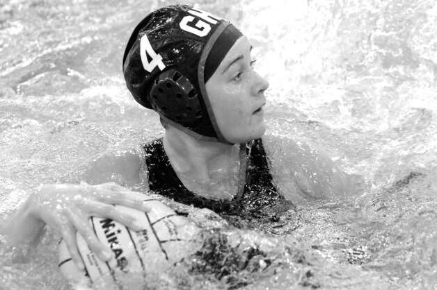 Former Greenwich High School water polo star Kristina Norrgard received a Tim Nesvig Memorial Greenwich Water Polo Player of the Year award, as did fellow GHS grad Matthew Weber. Photo: Keelin Daly, GT / 00002809A