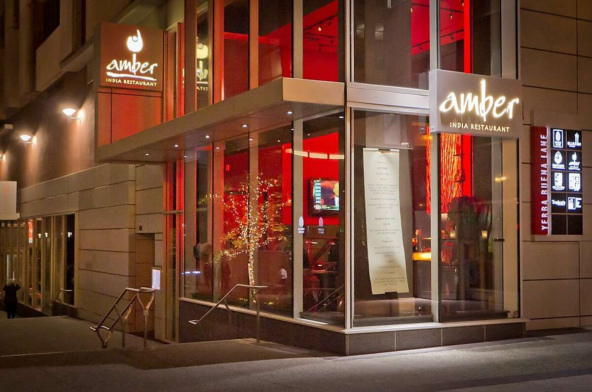 The exterior of Amber India in San Francisco.