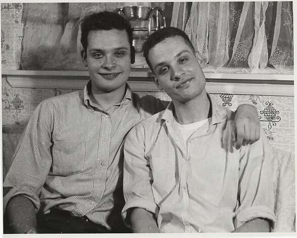 Indie filmmakers George (left) and Mike Kuchar in the 1950s. Photo: Courtesy Pacific Film Archive