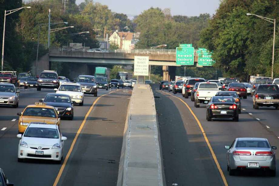 Traffic between exits 14 and 15 is often bumper to bumper. Photo: Contributed Photo / Norwalk Citizen