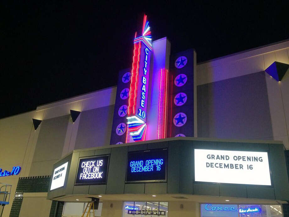 City Base Cinema is a new 10-screen theater near the site of the former Brooks Air Force Base. Photo: Express-News