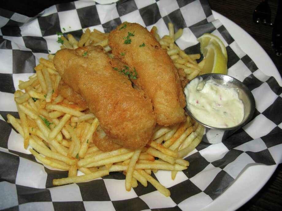 The Land Shark Beer Battered Fish & Chips were a favorite.  Photo: Staff, Jennifer McInnis