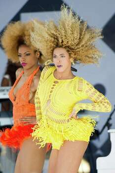 "Beyonce performs on ABC's ""Good Morning America"" in New York, Friday, July 1, 2011. (AP Photo/Charles Sykes) Photo: Charles Sykes, Associated Press / FR170266 AP"