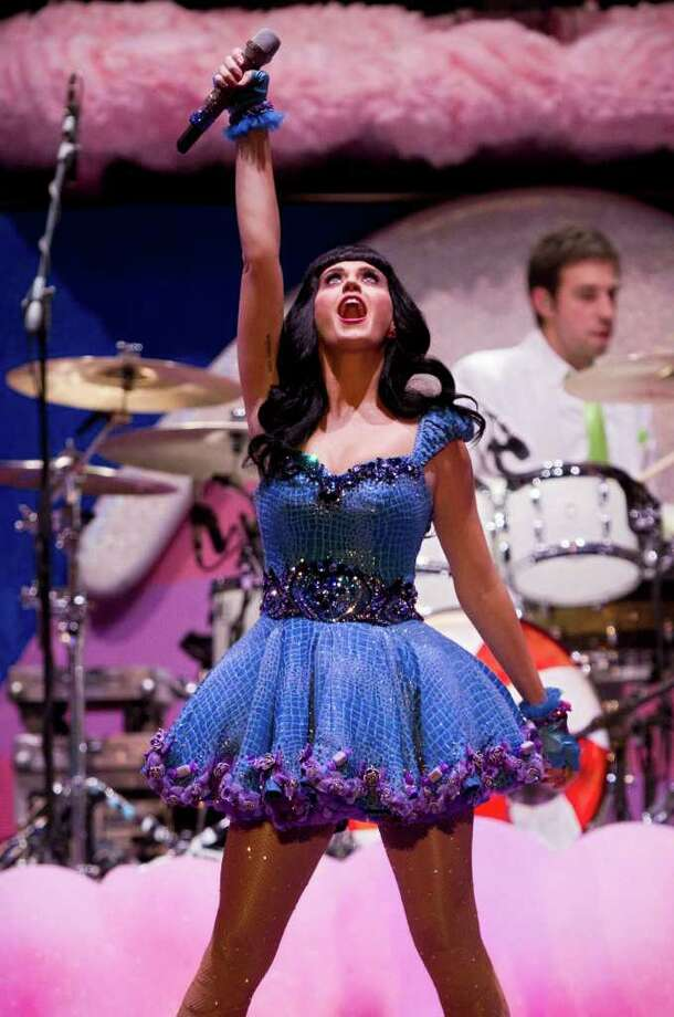 FILE - In this Sept. 27, 2011 file photo, Katy Perry performs in concert at the Pepsi Music festival in Buenos Aires, Argentina. Photo: AP