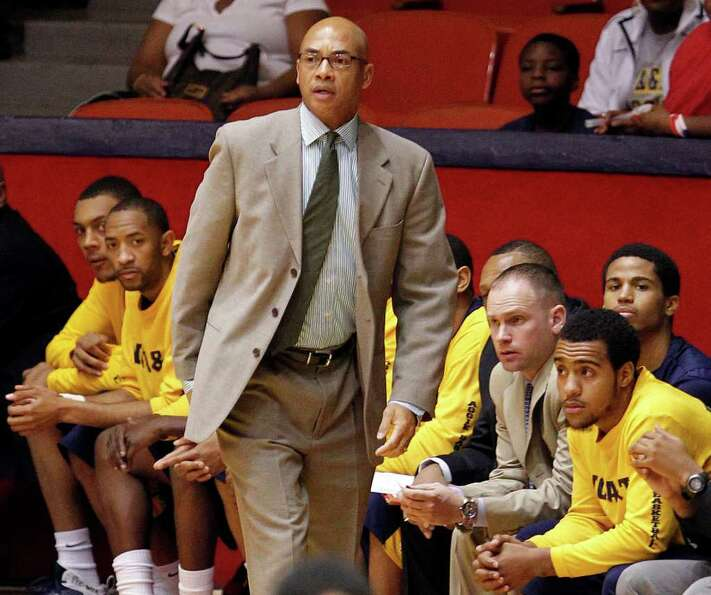 North Carolina A&T's head coach Jerry Eaves stands on the sidelines during first half of men's colle