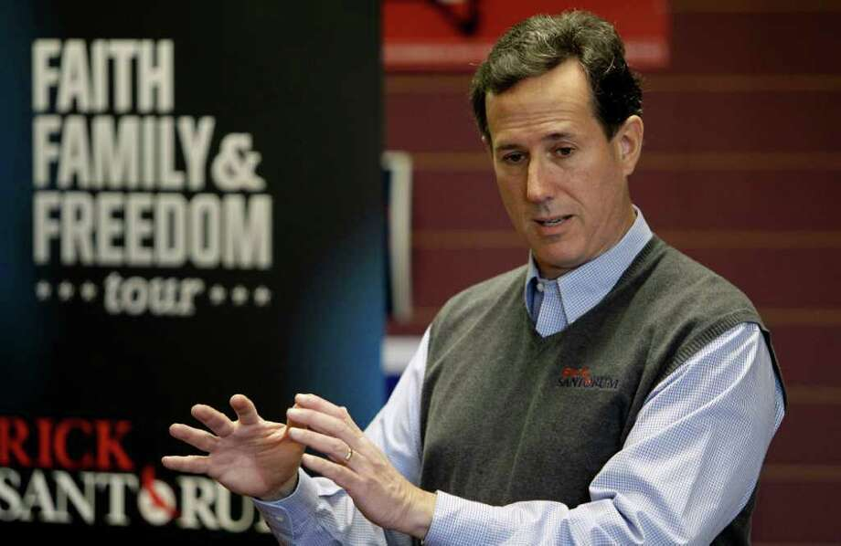 Republican voters want a conservative candidate who has conviction and is consistent? That's Rick Santorum. But maybe he lacks pizazz. Photo: Associated Press, Charlie Neibergall