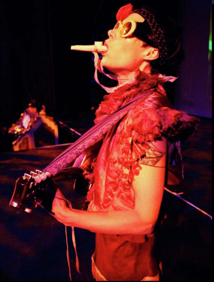 """C. Ryder Cooley performs her self-described 'graveyard cabaret,' """"Xmalia,"""" at the Silvermine Guild Arts Center in New Canaan on Sunday, Jan. 8. Photo: Contributed Photo"""