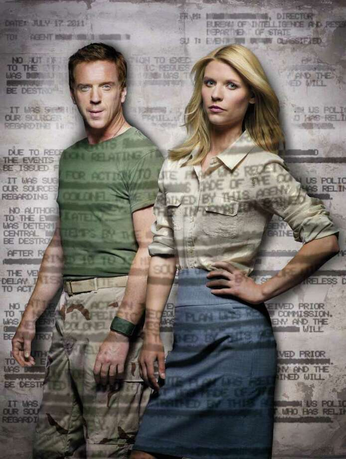 """Damian Lewis as Nicholas """"Nick"""" Brody and Claire Danes as Carrie Mathison in Homeland (keyart) - Photo: Courtesy of SHOWTIME - Photo ID: homeland_gal_PR04_Projection"""