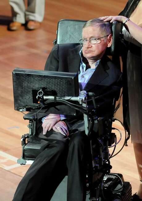 EVAN AGOSTINI : AP ALS: British physicist Stephen Hawking lost his real voice in a tracheotomy in 1985. Photo: Evan Agostini / AGOEV