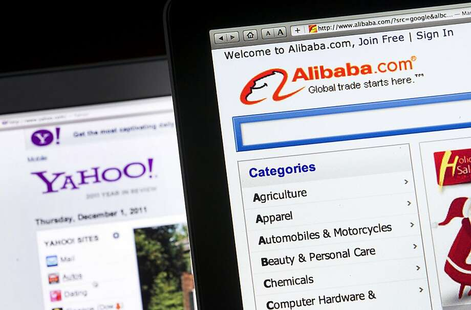 Yahoo is in discussions to sell its stake in China's Alibaba Group Holding. Photo: Jin Lee, Bloomberg