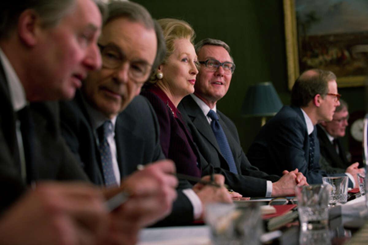 Meryl Streep as Margaret Thatcher and Anthony Head as Geoffrey Howe in