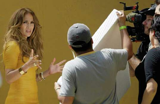 U.S. singer and actress Jennifer Lopez speaks during a recording in Lima, Peru, Saturday Dec. 3, 2011.  Lopez is in Peru to record some episodes of a reality show 'Q'Viva! The Chosen.' Photo: AP