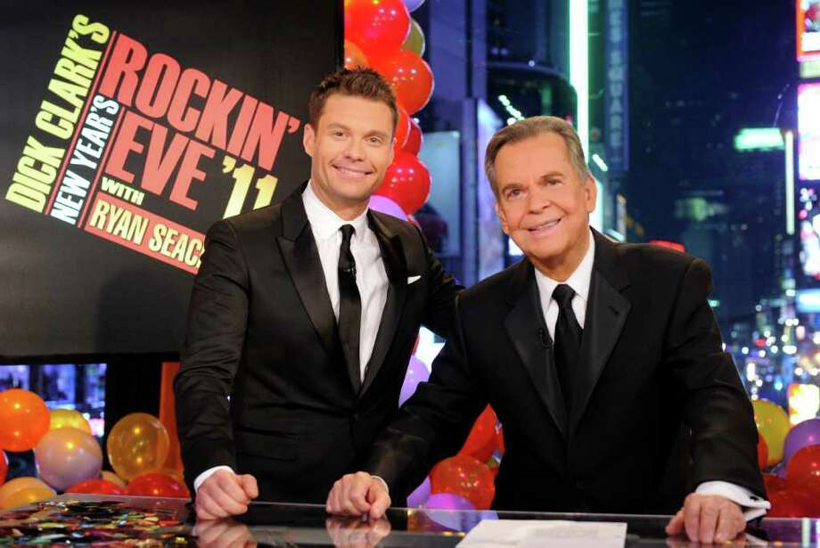 IDA MAE ASTUTE : ASSOCIATED PRESS SIX HOURS: Ryan Seacrest, left, and Dick Clark will celebrate 40 years of history as they host Dick Clark's New Year's Rockin' Eve With Ryan Seacrest 2012 live from New York. Photo: Ida Mae Astute / © AMERICAN BROADCASTING COMPANIES, INC.  All rights reserved.