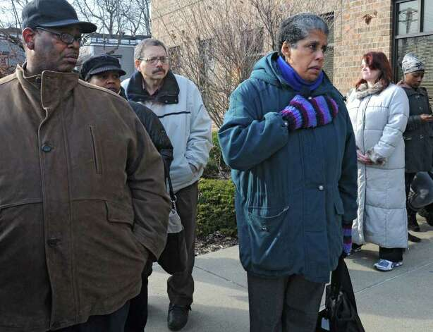 Albany council member Barbara Smith, along with other Community group members, talk outside the Public Safety Building on Henry Johnson Blvd about the overnight police shooting that left a man dead Friday, Dec. 30, 2011 in Albany, N.Y. (Lori Van Buren / Times Union) Photo: Lori Van Buren