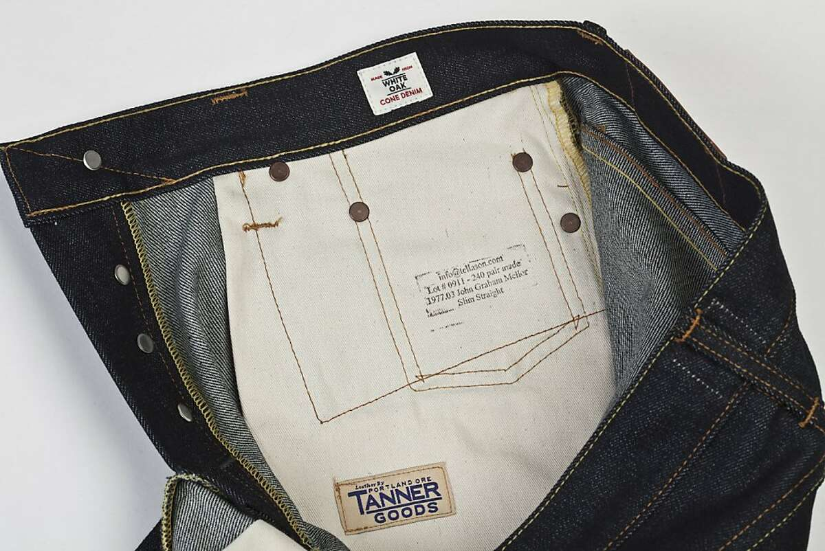 The pocket bags of a pairTellason Denim is seen on Monday, Oct. 31, 2011 in San Francisco, Calif.