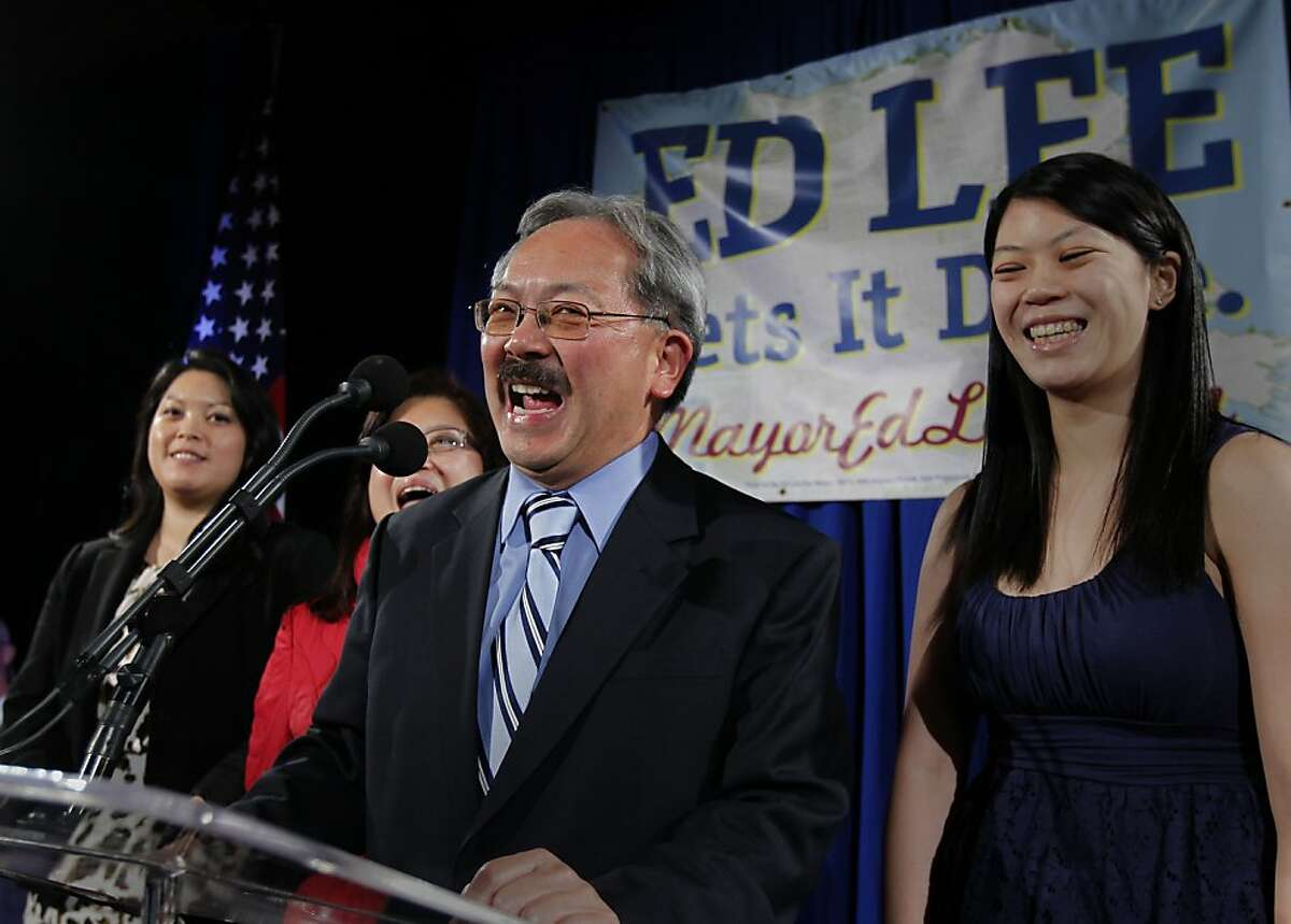 Brianna Lee (right), daughter of Mayor Ed Lee, is getting married.