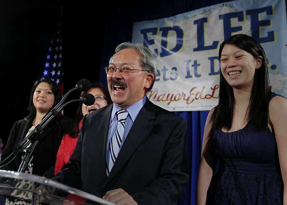 Brianna Lee (right), daughter of Mayor Ed Lee, is getting married. Photo: Michael Macor, The Chronicle