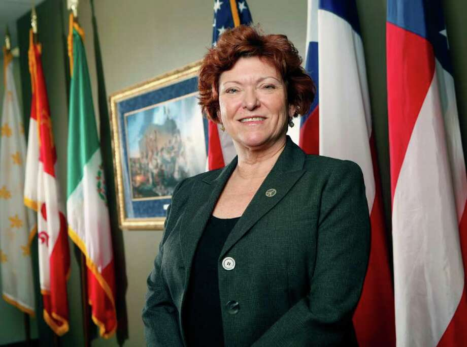 "Assistant District Attorney Mary Green, seen in this Wednesday Dec. 21, 2011 photo in the District Attorney's office, has a personal email account called ""MeanMary,"" and if you've ever been a Mexican Mafia member, child sex trafficker or other defendant unlucky to sit opposite her in a courtroom, you know why it's fitting. Green's tough-as-nails reputation helped earn her designation this fall as ""prosecutor of the year"" by the Texas District and County Attorneys Association. The honor is often reserved for elected officials. Photo: WILLIAM LUTHER, SAN ANTONIO EXPRESS-NEWS / 2011 SAN ANTONIO EXPRESS-NEWS"