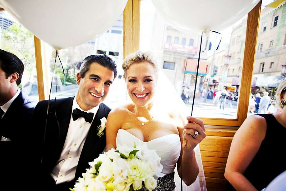 Josh Burns and Brittany Raven married on Aug. 27, 2011 in San Francisco. Their reception was held at the Bently Reserve. Photo: Andrew Weeks