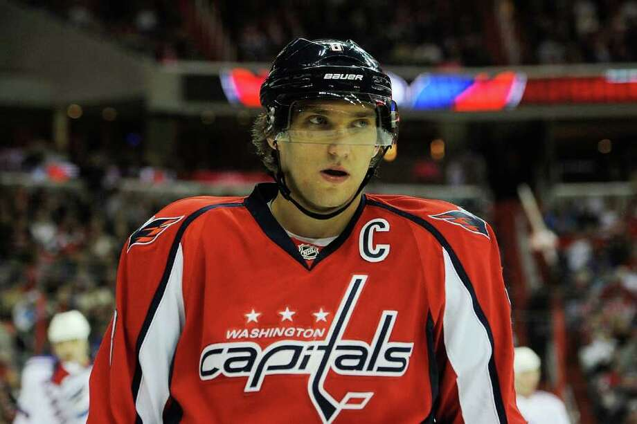WASHINGTON, DC - DECEMBER 28:  Alex Ovechkin #8 of the Washington Capitals reacts after a play against the New York Rangers at Verizon Center on December 28, 2011 in Washington, DC.  (Photo by Patrick McDermott/Getty Images) Photo: Patrick McDermott / 2011 Getty Images