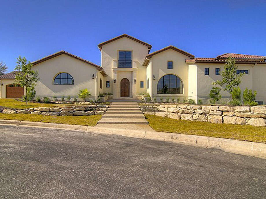 Looking at the front of the Spanish Hacienda property, designed by Silverleaf Custom Homes. Photo: Realtor.com