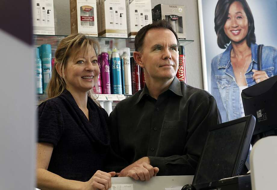 "Tamara and Charles Welsh at their franchise hair salon on Thursday December 29, 2011 in San Jose, Ca.  The State of California is cracking down on the ""underground economy""- businesses that pay employees cash under the table, thus skirting tax and workers comp payments. Photo: Michael Macor, The Chronicle"