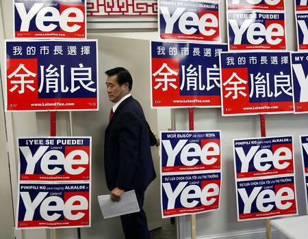 Democratic state senator Leland Yee, a San Francisco mayoral candidate, works at his campaign headquarters in San Francisco, Calif., August 18, 2011.Democratic state senator Leland Yee, a San Francisco mayoral candidate, works at his campaign headquarters in San Francisco, Calif., August 18, 2011. Photo: Sarah Rice, Special To The Chronicle