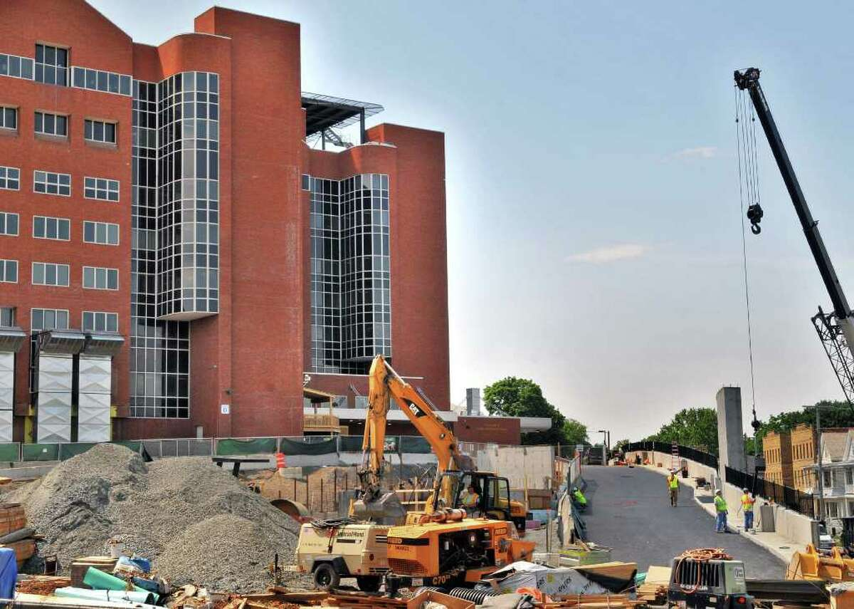 Work continues on Albany Medical Center expansion Friday June 10, 2011. (John Carl D'Annibale / Times Union)
