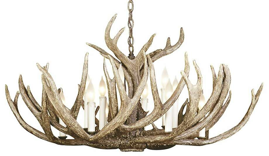 No Need To Buck The Faux Antler Chandelier Trend Sfgate