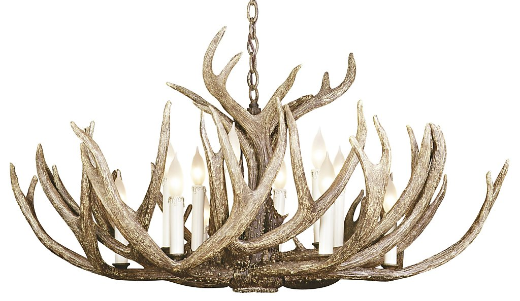 No Need To Buck The Faux Antler Chandelier Trend