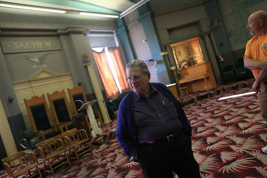 Pete Mustico walks through the meeting room at the Red Men's Hall on December 2, 2011 in Vallejo, Calif. Photo: Lea Suzuki, The Chronicle