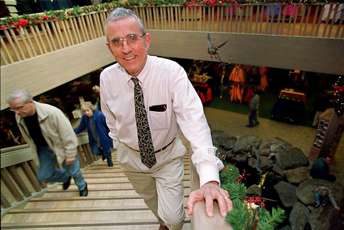 FOR USE ANYTIME--L. L. Bean President Leon Gorman poses at his company's retail store in Freeport, Maine, Monday Dec. 7,1998. Nobody needs to tell Gorman about competition in the direct-mail industry. On a recent day, the grandson of company founder Leon Leonwood Bean, received 16 catalogs in his mail. (AP Photo/Pat Wellenbach)