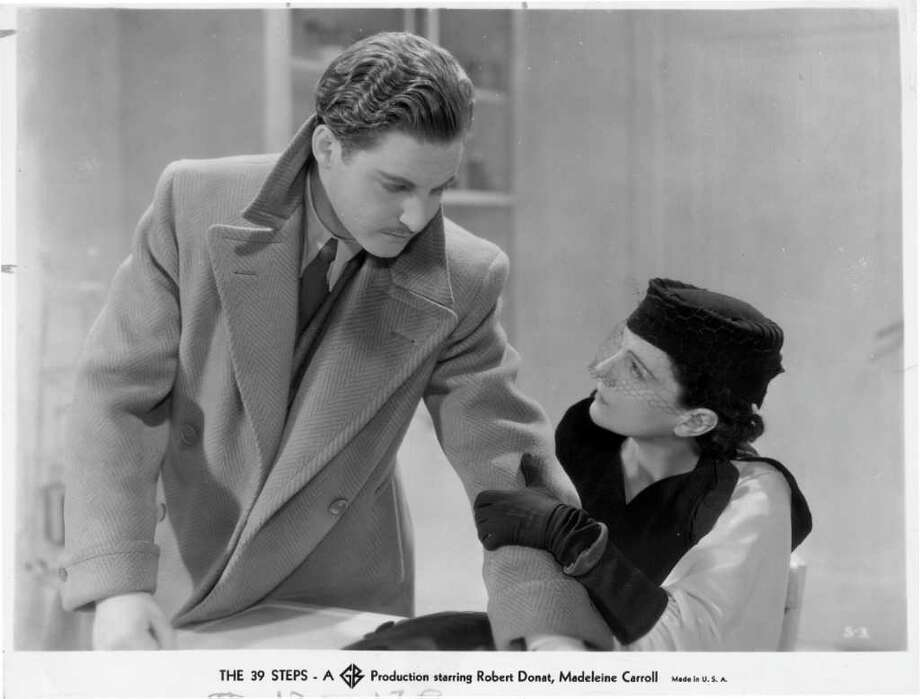 """The 39 Steps"" (1935): Robert Donat is featured in one of Hitchcock's best pre-war films, a cross-country caper involving assassins, military secrets, and a music hall performer with a photographic memory. / Handout"