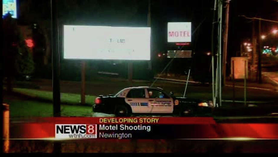 Police are investigating a fatal shooting at a motel on the Berlin Turnpike in Newington, Conn. An unidentified man was shot at the Carrier Motor Lodge just before 10:15 Monday night, police said. He was pronounced dead a short time later at a local hospital. Photo: Contributed Photo