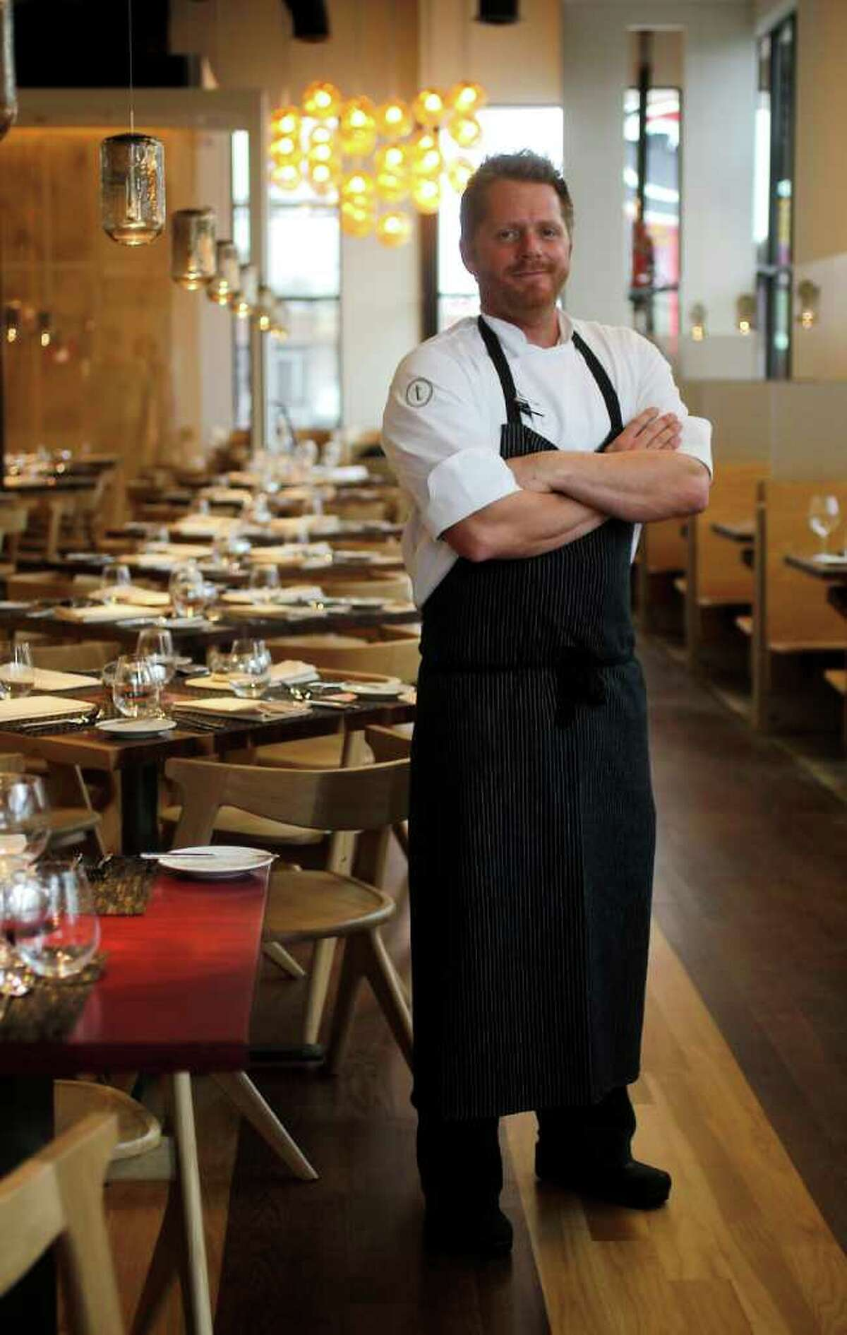Triniti's executive chef Ryan Hildebrand is formerly of Textile. Triniti, which opened Dec. 24, is one of the city's hottest reservations.