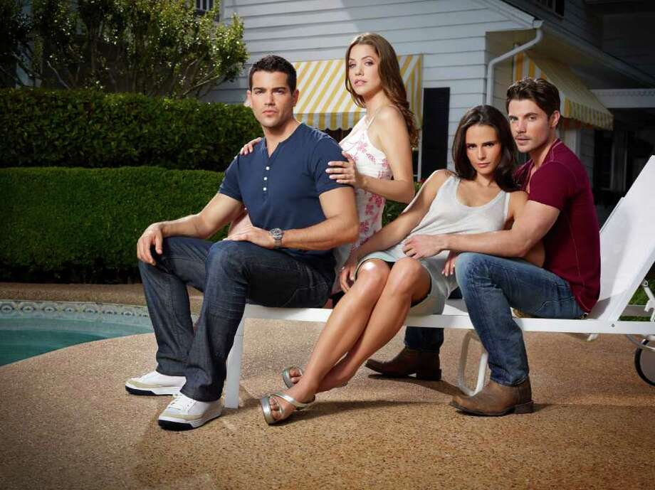 """Dallas"" stars Jesse Metcalfe, from left, Julie Gonzalo, Jordana Brewster and Josh Henderson. Photo: TNT"