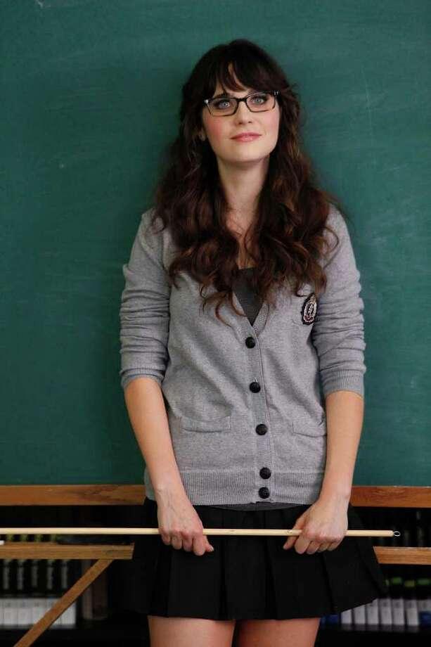 "Jess (Zooey Deschanel) prepares to teach her class with an unorthodox approach on ""New Girl."" Photo: FOX"