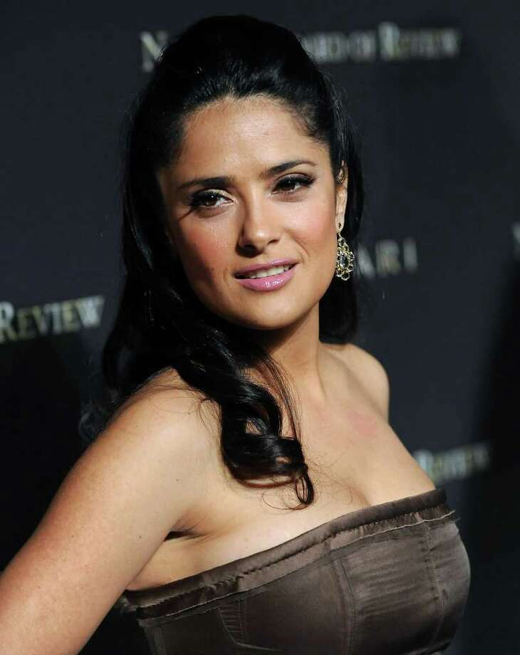 FILE - In this Jan. 14, 2009 file photo, actress Salma Hayek attends the 2008 National Board of Review of Motion Pictures awards gala in New York. Photo: Evan Agostini, AP / AGOEV