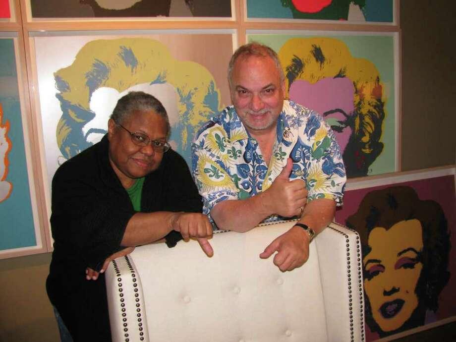 Regina Scruggs, CultureMap.com and Art & Culture Houston magazine and Doug Harris, KGLK-FM Radio, are members of the Houston Film Critics Society Photo: Don Maines