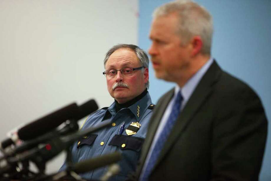 Seattle Mayor Mike McGinn and Police Chief John Diaz. Photo: JOSHUA TRUJILLO / SEATTLEPI.COM