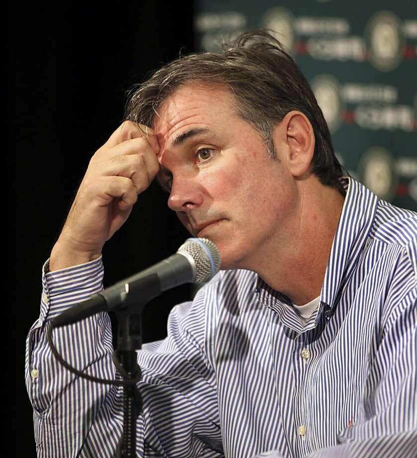 GM Billy Beane isn't the one setting the payroll. Photo: Ben Margot, AP