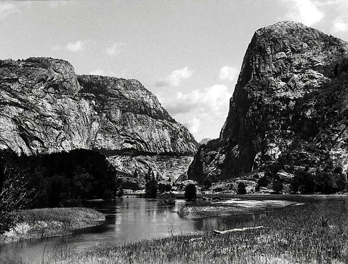 The Hetch Hetchy Valley in Yosemite National Park, Calif., is seen in this undated photo provided by the The Bancroft Library at the University of California in Berkeley. With its soaring granite cliffs and spouting waterfalls, Yosemite's Hetch Hetchy Valley was described by conservationist John Muir as