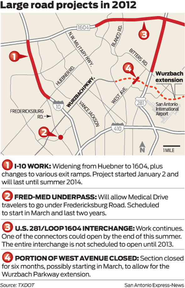 Major road projects mapped - San Antonio Express-News