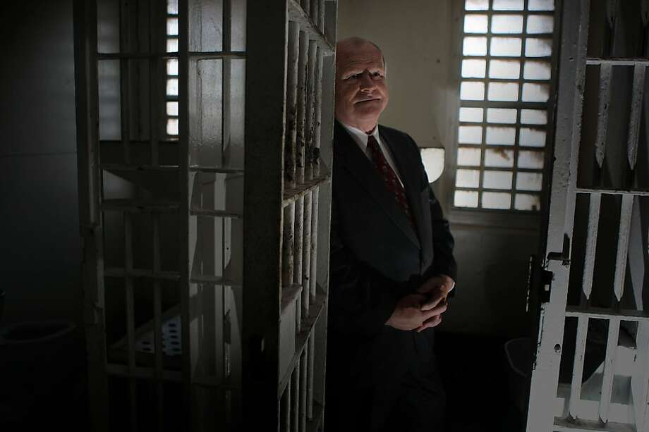 San Francisco Sheriff Michael Hennessey, who is retiring after 32 years in office, in one of the cells at the old jail facility in San Bruno, Calif., on Wednesday, November 29, 2011.  He started as a lawyer working with social workers at this facility. Photo: Liz Hafalia, The Chronicle