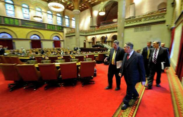 Assembly Speaker Shelly Silver walks through the Assembly Chamber on the way to the Speakers Breakfast in the State Capitol on State of the State day in Albany, N.Y. Jan. 4, 2011.   (Skip Dickstein / Times Union) Photo: SKIP DICKSTEIN / 10015982A