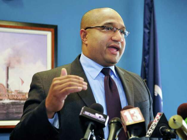 Albany District Attorney P. David Soares announces that his office will investigate the events on 12/29/11 that resulted in the death of Nah-Cream Moore on South Pearl Street in the City of Albany during a news conference Wednesday Jan. 4, 2012.   (John Carl D'Annibale / Times Union) Photo: John Carl D'Annibale