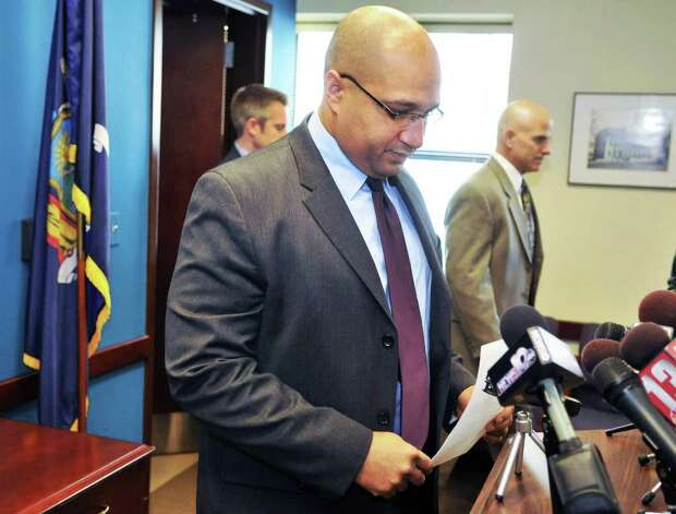 Albany District Attorney P. David Soares announces during a news conference Wednesday Jan. 4, 2012, that his office will investigate the events on Dec. 29, 2011, that resulted in the death of Nah-Cream Moore on South Pearl Street in Albany. (John Carl D'Annibale / Times Union) Photo: John Carl D'Annibale